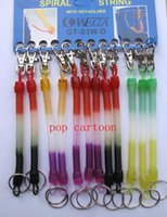 Wholesale Wholesale Spiral Key Chains - New Colors Elastic Spring Coiled Plastic Key Chain Key Ring Spiral Strap Stretchy Lanyard