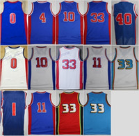 Wholesale Hills Gold - Discount 11 Isiah Thomas Jerseys Throwback Basketball 10 Dennis Rodman 40 Bill Laimbeer Jersey 33 Grant Hill Drummond 1 Jackson with name