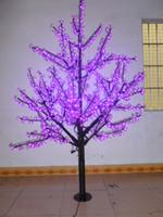 ingrosso albero fiore viola-Natale nuovo anno LED Cherry Blossom Tree 1024pcs LED viola lampadine 1.8m / 6ft altezza 110 / 220VAC impermeabile uso esterno