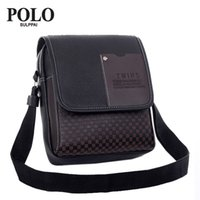 Wholesale Wholesale Leather Briefcases - Wholesale- SULPPAI POLO men briefcase Handbag Casual Lowest Price New Hot Sale Pu Leather Men Bag Messenger Small Crossbody Shoulder Bags