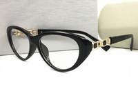 ingrosso telaio di occhio famoso marchio-Famoso originale Marca cat eye frames occhiali da sole donne oculos montatura da vista occhiali femminili lenti trasparenti miopia montature da vista con logo
