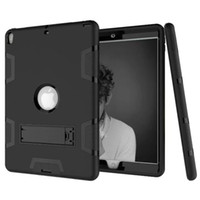 Wholesale resistance body - Three Layer Armor Defender Full-body Rugged Cute Slim Hard Protective Case Cover for Apple iPad Min 1 2 3 4 5 6 Air Pro 9.7 10.5 with Stand