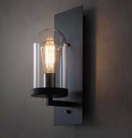 endüstriyel lambalar toptan satış-Salon Güzel Endüstriyel Duvar Lambası Işık Cam DIY Aydınlatma Ev Cafe Sanat iç aydınlatma duvar lambaları