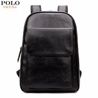 Wholesale Backpack Trendy - Wholesale- VICUNA POLO Fashion Korea Design Men's Laptop Backpack Brand Preppy Style high School Backpack For College Trendy Man Daypack