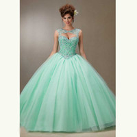 Wholesale Cheap Sweet 16 Gowns - Cheap Ball Gown Crystals Beading Tulle Sweet 16 Dresses Ball Gowns Quinceanera Dresses with Reamovable Jacket Custom Made
