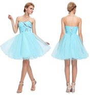 Wholesale Grace Karin Tulle Dress - Grace Karin Sweetheart Short Prom Dresses Pink Blue Black White Prom Dress Beading Sequin Ruched Sexy Party Gown HY00718