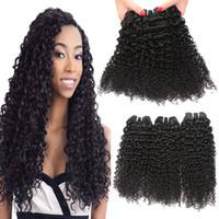 Wholesale Cheap Brazilian Deep Curl - 3Bundles 100g pcs KINKY Curly Wave Brazilian Peruvian Malaysian Virgin Hair Weave Cheap Deep Curl Remy Brazilian Human Hair Extensions