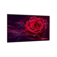 Wholesale Framed Rose Prints - Morden Picture Wall Pictures Romantic La Fleur Red Rose Painting Spray Prints Painting On Canvas Art Pictures Decoration Peinture Home Decor
