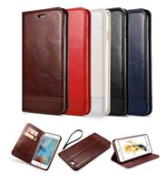 Wholesale Note Flip Cover Leather - Luxury Leather Magnetic Flip Wallet Case For iPhone 7 Plus Galaxy S8 S7 Edge S6 Edge Plus Note 5 Cover With Card Holder