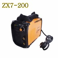 Wholesale Welder Dc - ZX7-200 Inverter DC welder shocking arc welding machine TIG welder and iron welding with electrode holder and earth clamp