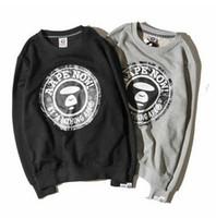 Wholesale Newest Brand Hoody - Tide Brand Newest Men's Crew Neck Hoodies Japanese Brand Solid Printing Long Sleeve Pullover Sweatshirts Teenager Popular Hoody Wear