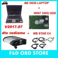 Wholesale Star Compact Laptop - MB SD Connect Compact 4 Star C4 Diagnosis V2017.7 HDD Plus 4G D630 Laptop Software Installed Ready to Use DAS XENTRY MB Star C4