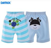Wholesale Girls Underware - 2 pieces  lot 6M-24M Summer Cotton Elastic Waist Baby Pants Soft Ventilate Short Baby Boy Clothes Kids Boys Girls Underware DR0005