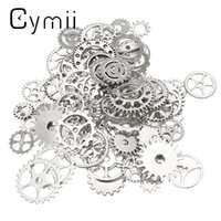 Wholesale Wholesale Parts For Clocks - Wholesale-Craft 60pcs Alloy Charms Wheel Gears Antique Vintage Craft Watch Clock Parts for Home Cloth Decoration Pendant Watch Repair Tool