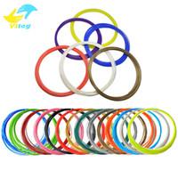 3d druckermaterialien großhandel-20 Farben 3D Filament ABS / PLA 1,75 mm Drucker Filamentmaterialien (10 M / Farbe, insgesamt 200 M) Für 3D-Druckstift 3D-Drucker