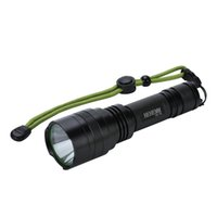 Wholesale waterproof button switch - Super-bright 2000 Lumens LED Flashlight Torch Light with Tail Button Switch Controlled by 5-mode, Black(without battery)