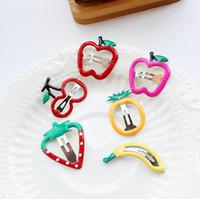 Wholesale Hair Trimmer China - Good A++ Hair ornaments fruit bangs folder BB chucks hair trims children chucks hair clips FJ072 mix order 60 pieces a lot