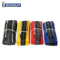 Wholesale Michelin Roads Tire - Original Michelin LITHION 2 Road Bike Tire 700 * 23C Tire Hole 260g 700C Light Blue Red Black Yellow Cycling Tire Bike