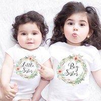 ropa de hermana mayor al por mayor-Ropa de bebé niña de verano conjunto Little Big Sister Match ropa mono trajes de mameluco camisetas familia trajes a juego L1
