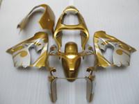 ingrosso zx9r oro-Kit carenatura 7 regali per Kawasaki Ninja ZX9R 2000 2001 carenatura oro argento set ZX9R 00 01 OY40