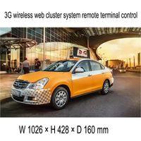 señales de techo del coche al por mayor-La pantalla LED video del techo del taxi al aire libre más nuevo / la caja de luz publicitaria a todo color del taxi del top Sign / 3G WIFI del coche