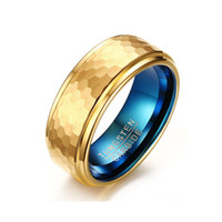 Dessins De Bague Fraîche Pour Hommes Pas Cher-New Design Fashion Gold Plated Man Femmes Lady Spring Tungsten acier Anneaux 3D Cool Simple Tungsten Carbide Rings for Men Jewelry