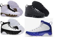 Chaussures de basket-ball en gros hommes Retro 9 Chaussures de basket-ball de qualité supérieure Outdoor Discount Leather Surface Sports Shoes