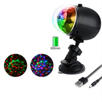 Wholesale Rgb Color Wheel - LED Laser Stage Lights RGB Three dimensional circular wheel Lighting Mini USB DJ Laser lamp For Christmas Party Home Wedding Club Projector