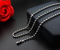 Wholesale Big Asian Beads - Big Promotions ! 10pcs bead chain Chain Necklace Lobster Clasps Chain Jewelry Size 2.4mm 45cm-90cm