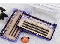 knotenfreie wimpern großhandel-0.07mm Ultra Soft New Individuelle Nerz Wimpernverlängerung 120root Knot Free Cluster Wimpern Natürliches Makeup Tool