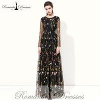 Wholesale Cap Sleeved Party Gowns - Real Photos New Arrival Black Lace Long Sleeve Evening Gowns Women Sexy Round Neck Sleeved Party Prom Evening Dresses 2017