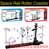 Wholesale Marbles Games - SpaceRails Space Rail Mini marble Roller Coaster with Steel Balls Level 1-2 Game 5,000mm 5,500mm DIY Educational kit Puzzle Toys wholesale