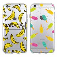 Wholesale Iphone Cases Icecream - Cute Icecream Ice cream Popsicle Bananas Summer Soft Phone Case Coque Fundas For iPhone 6 6S 6Plus 7 7Plus 5 5S SE 5C