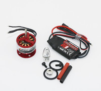 Wholesale motor emax - 100% Orginal Emax CF2822 1200KV Outrunner Brushless Motor + Hobbywing 20A Brushless ESC +3.17mm propeller adapter Dropship