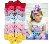 bebek düğüm kravat baş bantları toptan satış-Yeni 9 Renkler Bebek Pamuk Kafa Düğüm Kravat Kafa Headwrap Bağbozumu Kafa Wrap Fotoğraf Prop Sıkı Düğüm Kız Saç Aksesuarları