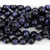 "Wholesale Blue Goldstone Bracelet - Wholesale- Discount Wholesale Natural Blue Goldstone Round Loose Stone Beads 3-18mm Fit Jewelry DIY Necklaces or Bracelets 15"" 03339"