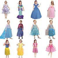Wholesale mermaids tale - 12 style Princess skirt kids girls Mermaid princess skirt Sophia Snow white princess dress Cosplay cloth