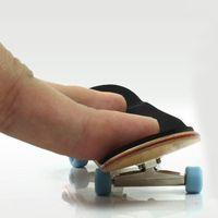 Wholesale Skateboard Wheels Brand - Wholesale-Brand New Professional Maple Wood Finger Skateboard Alloy Stent Bearing Wheel Fingerboard Adult Novelty Toy