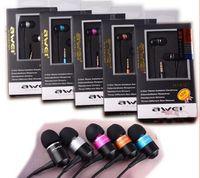 наушники awei оптовых-Оригинал Awei ES Q3 новый высокое качество 3.5 мм разъем шумоизоляции наушники-вкладыши наушники для MP3 / MP4 смартфон с розничной коробке