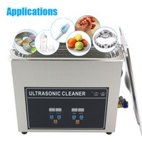 Wholesale Stainless Steel Ultrasonic Jewelry Cleaner - 800ml 2.0L 3.2L 4.5L 6.5L Digital Ultrasonic Cleaner Bath Cleaning Jewelry Watch Glasses Home Cleaning Machine Stainless Steel
