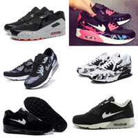 Wholesale New Korean Sneakers - 2017 new Summer breathable sneakers Korean running shoes air cushion 90 shoes men Women shoes