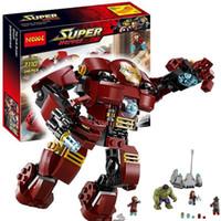 Wholesale Super Smash - Decool 7110 Marvel Super Heroes Avengers The Hulk Buster Smash Building Block Set Iron Man Building Block Kids Toy