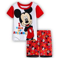 Wholesale Baby Winter Sleeping Suit - Wholesale- Children minnie mickey baby kids clothes nightwear pajamas for boys girls pyjamas sleepwear suit pyjamas kids sleeping suits