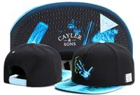Wholesale New Hats Era - 2017 New Cayler Sons Snapback hat Flower sport hip hop bone baseball gorras snapback cap for women men sun era hat