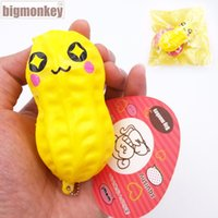 Wholesale Monkeys Toys Brands - Big monkey brand 8.5cm 20pcs lot New slow rising colours peanut Lovely expression Squishy Phone Charm Squeeze Toy