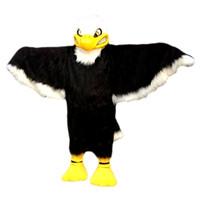 Wholesale Eagle Mascot Costume Cartoon - Black eagle Mascot Costume Cartoon Character Adult Size Longteng high quality (TM)05