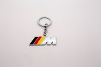 Wholesale Bmw Key Holder - Black Red Yellow M3 Logo Car Keychain Key Chain KeyRings Key Ring Fob Holder Car Logo For BMW M Power