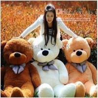 ingrosso grande teddy marrone-CALDO a buon mercato all'ingrosso! GIANT 80/120 BIG PLUSH TEDDY BEAR ENORME 100% COTONE TOY * Quattro colori bianco, marrone, marrone chiaro, rosa