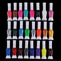 Wholesale Nail Art Pen Striper Set - Wholesale-1 Pcs Pen Brush Colorful Glitter Nail Polish Kit Set Manicure Art Print Canetinhas Nail Art Striper Nail Polish Easy