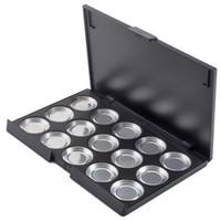 Wholesale Eyeshadow Palette 26mm - Wholesale- High Quanlity 26mm Makeup 15 PCS Empty Eyeshadow Aluminum Pans with Palette paleta de sombras vacia#4885
